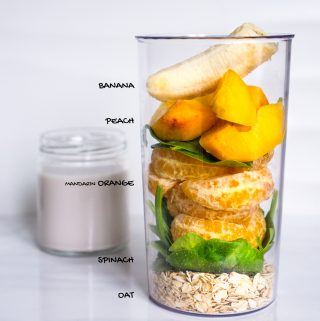 Peach & Oat Green Smoothie