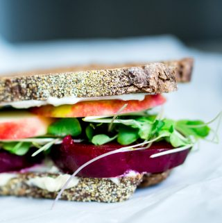 My current obsession- roasted beet sammie