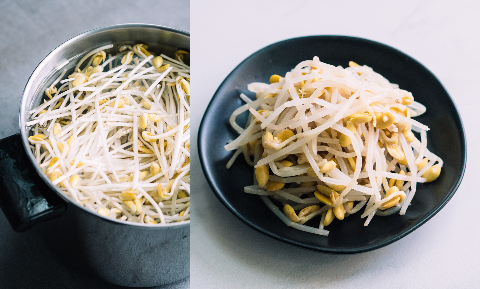 lightly seasoned bean sprouts