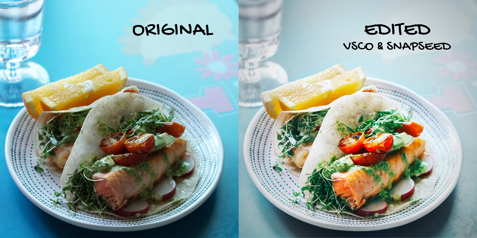 How to edit food photos on your phone, it's easy - White Blank Space