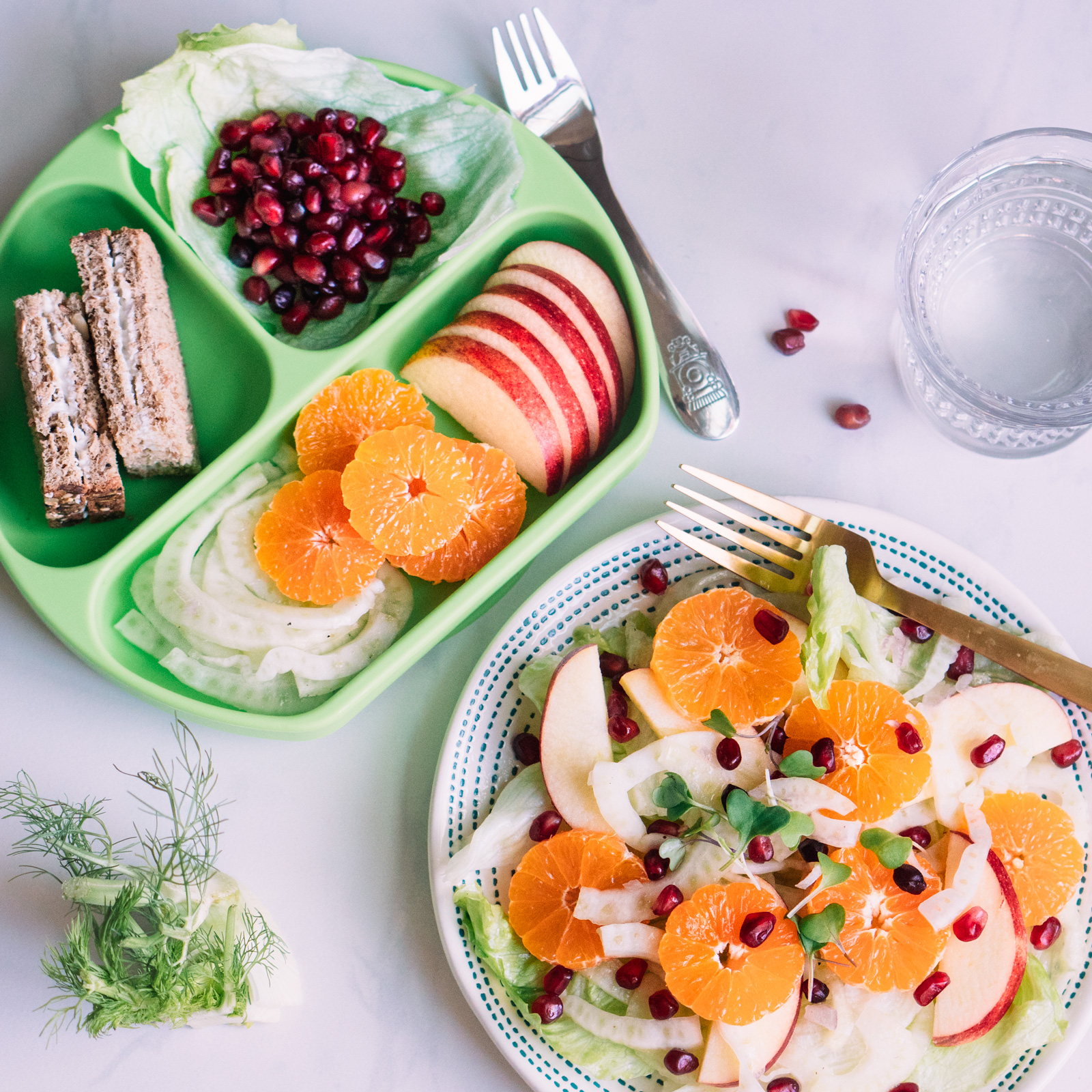 fennel fruit salad for adult and toddler